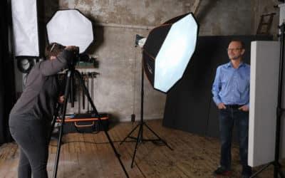 Workshop portrait en studio animé par Alain Guillemaud pour nos étudiants !